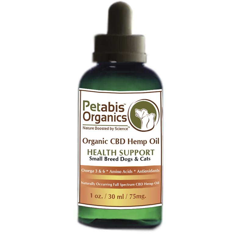 Petabis Organics PCR Oil Small Breed Dogs and Cats 30 ml 75 mg