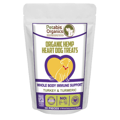 Petabis Organics Hemp Heart Joint & Active Body Support 30 Count CBD Dog Treats