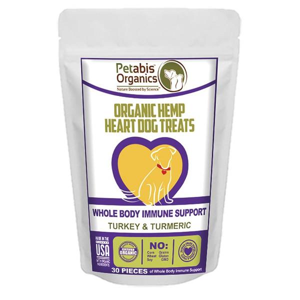 Petabis Organics Hemp Heart Joint & Active Body Support 30 Count CBD Dog Treats