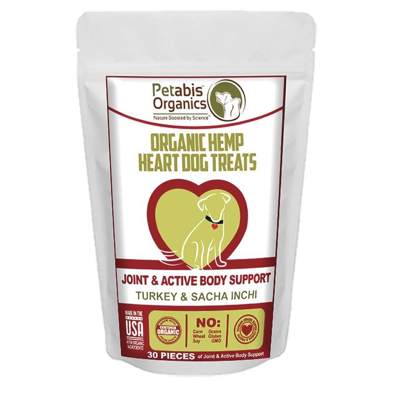 Petabis Organics Hemp Heart Whole Body and Immune Support 30 Count CBD Dog Treats