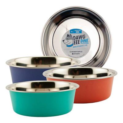 Dawgeee Dine Stainless Steel Pet Bowls