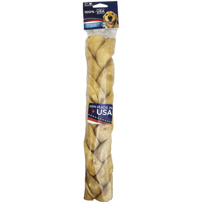 Pet Factory 12 inch Braided Chicken USA Rawhide available at Ryan's Pet Supplies