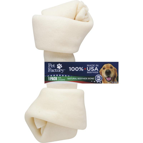 Pet Factory 6-7 inch USA Knotted Bone Dog Chew