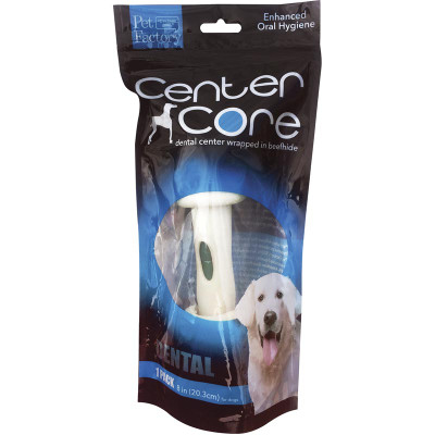 1 Pack Pet Factory Center Core Dental 8-9 inch Bone Dental Treats for Dogs