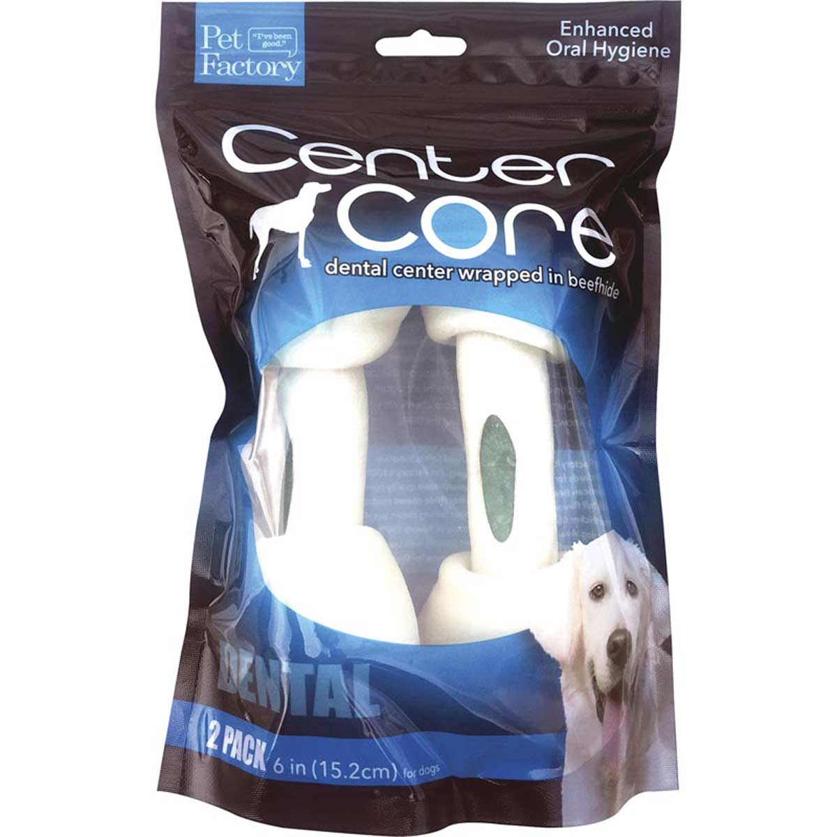 Pet Factory Center Core Dental 6-7 inch Dog Bones 2 Pack