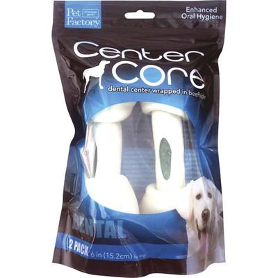 Pet Factory Center Core Dental 6-7 inch Dog Bones 2 Pack