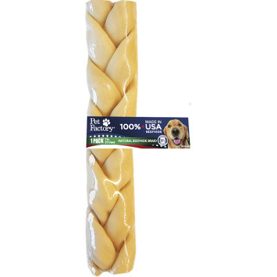 Pet Factory 7 inch Braided USA Rawhide for Dogs available at Ryan's Pet Supplies