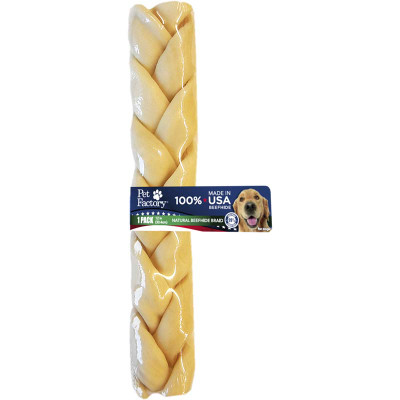 Pet Factory 12 inch Braided USA Rawhide