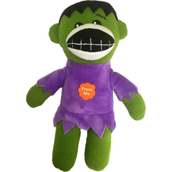 Pet Factory Frankenstein Sock Monkey Dog Toy