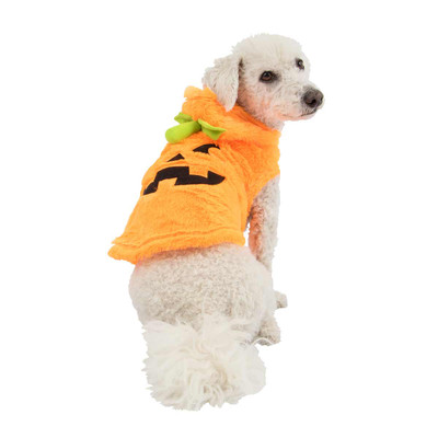 Dog wearing Small Pet Factory Pumpkin Costume