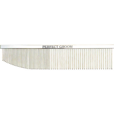 Perfect Groom Aspire 7.5 Inch Angled End Combination Comb for dog grooming