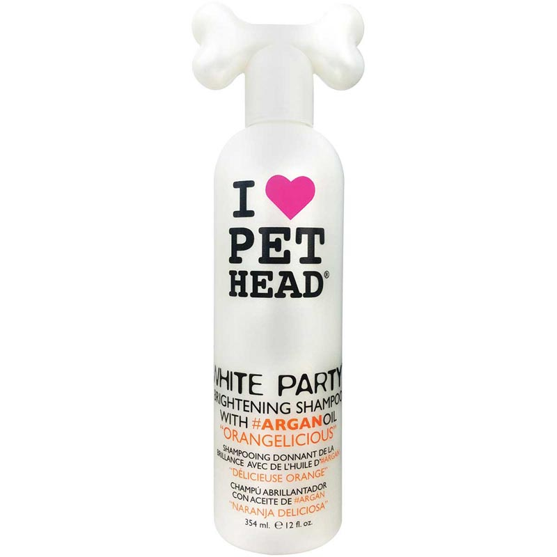 Pet Head White Party Brightening Shampoo with Argan Oil for Dogs - 12 oz