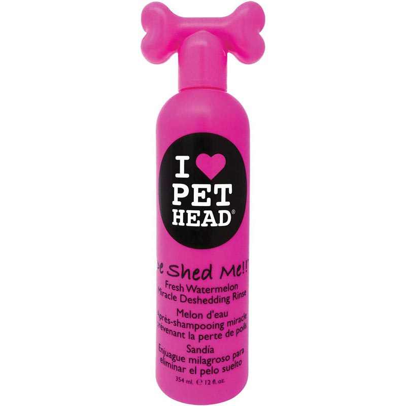 Pet Head De Shed Me!! Fresh Watermelon Miracle Deshedding Rinse for Dogs 12 oz