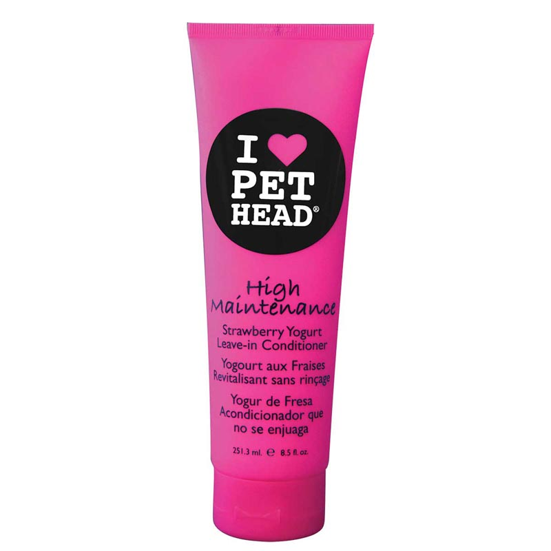 Pet Head High Maintenance Strawberry Lemonade Leave-In Conditioner 8.5 oz