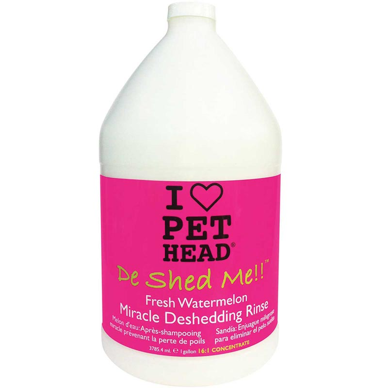 Pet Head De Shed Me!! Fresh Watermelon Miracle Deshedding Rinse for Dogs - Gallon