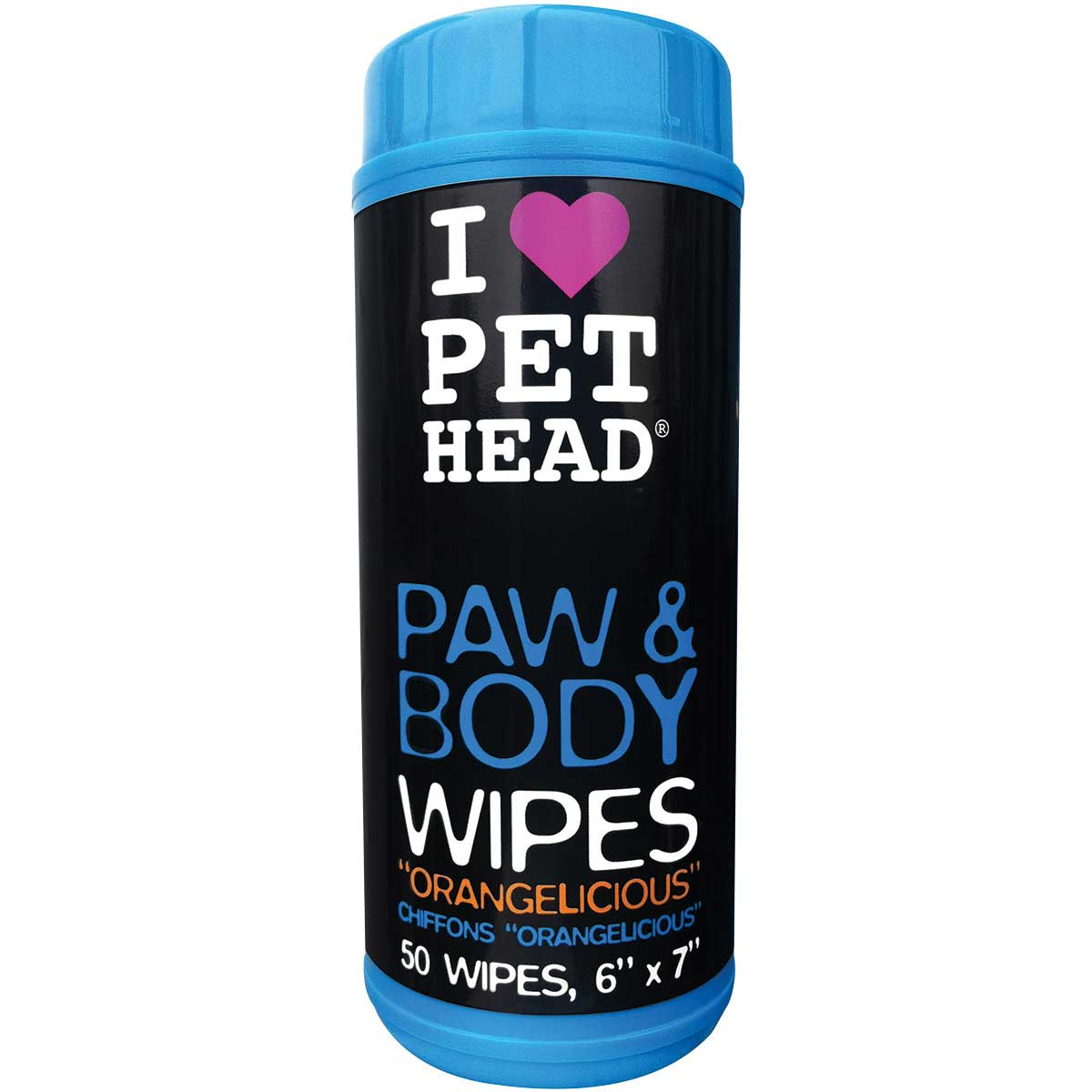 Pet Head Paw & Body Pet Wipes Orangelicious Scent 50 Count
