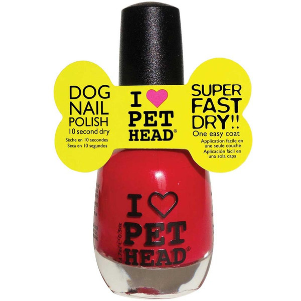 Pet Head Super Fast Drying Dog Nail Polish- Love Red .5 oz