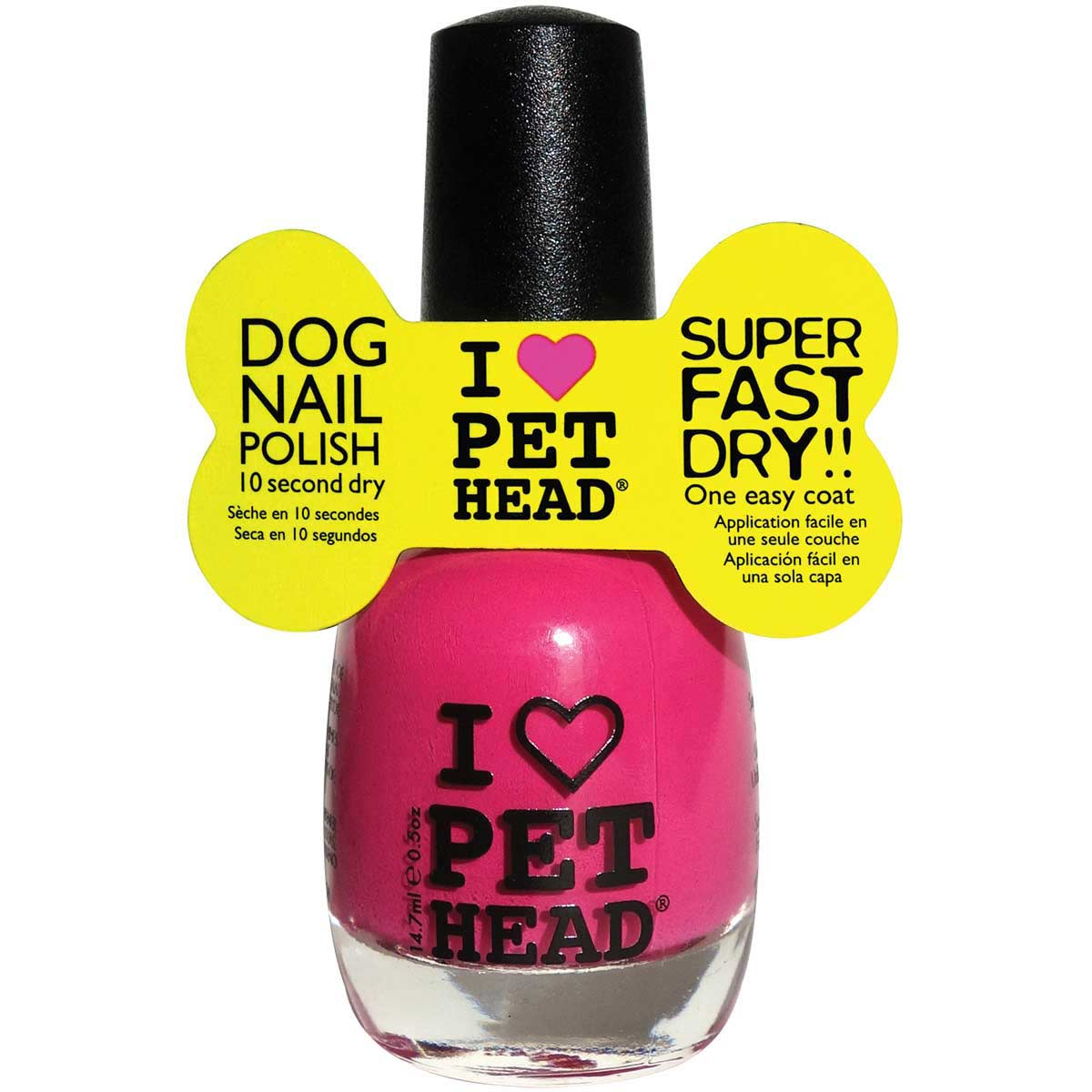Pet Head Dog Nail Polish- Fab Fuchsia .5 oz