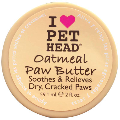 Pet Head Oatmeal Paw Butter - Soothes and Relieves Dry, Cracked Paws 2 oz