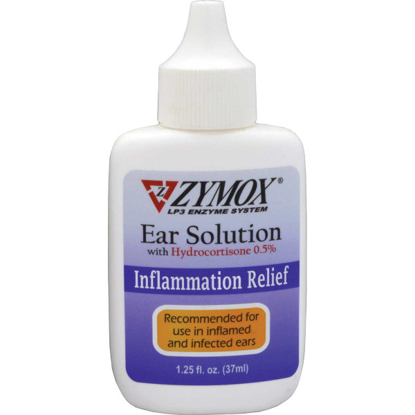 Zymox Enzymatic Ear Solution for Inflammation Relief With Hydrocortisone 0.5% 1.25oz