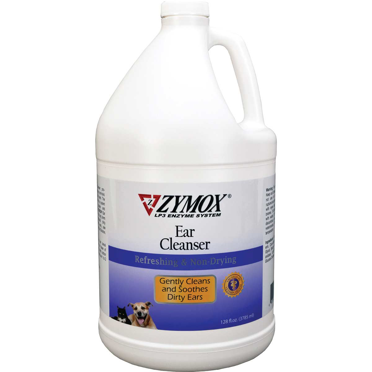 Zymox Dog Ear Cleanser Gallon - Refreshing and Non-drying, Cleans and Soothes Ears