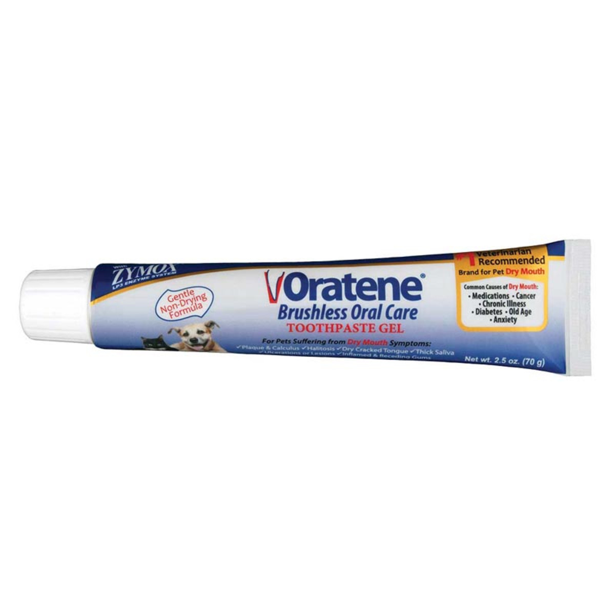 Zymox Oratene Brushless Oral Care Toothpaste Dental Gel for Dogs 2.5 oz