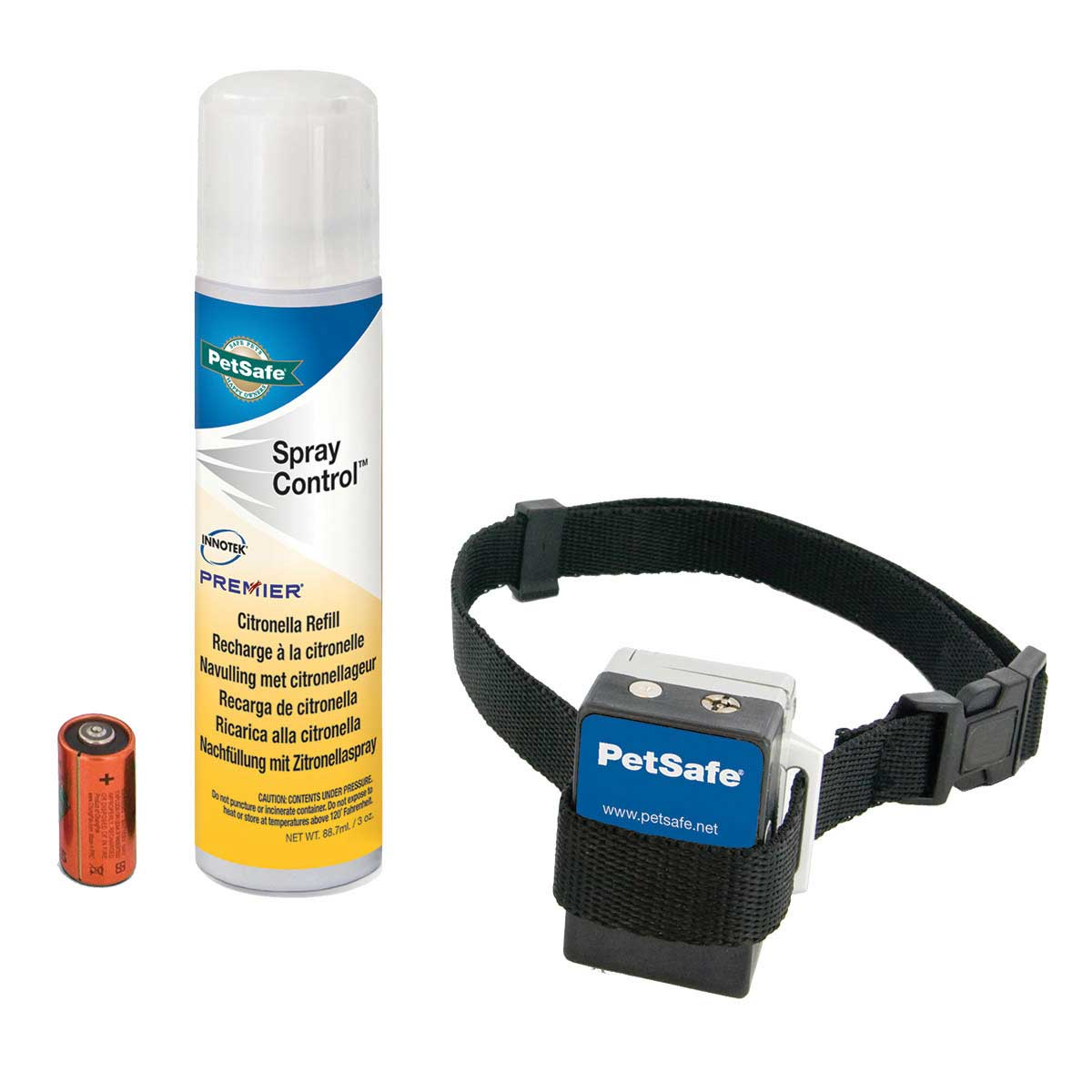 GentleSpray Bark Collar includes Collar, Battery and Citronella Spray