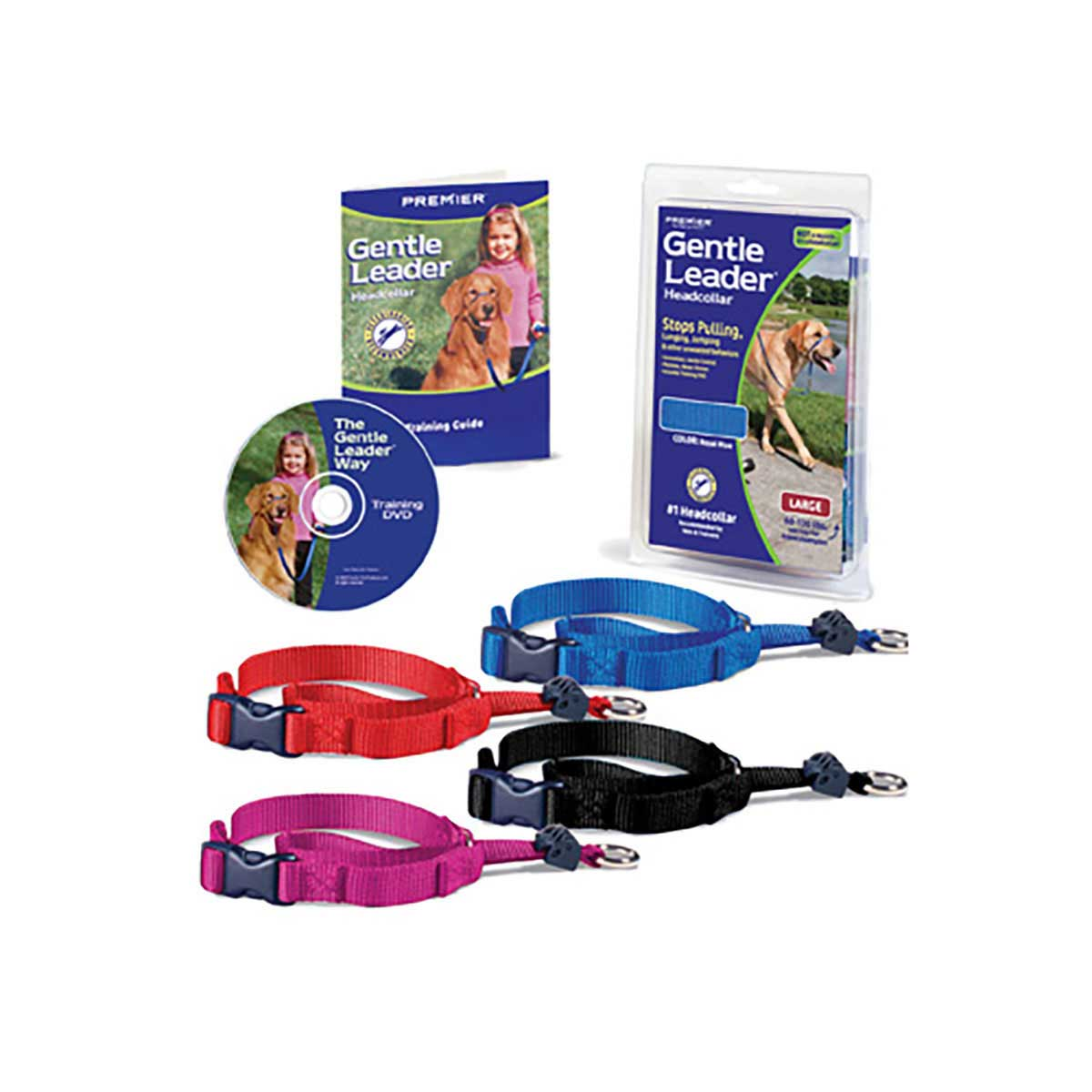 Gentle Leader Quick Release Head Collar Petite less than 5 lbs - Assorted Colors