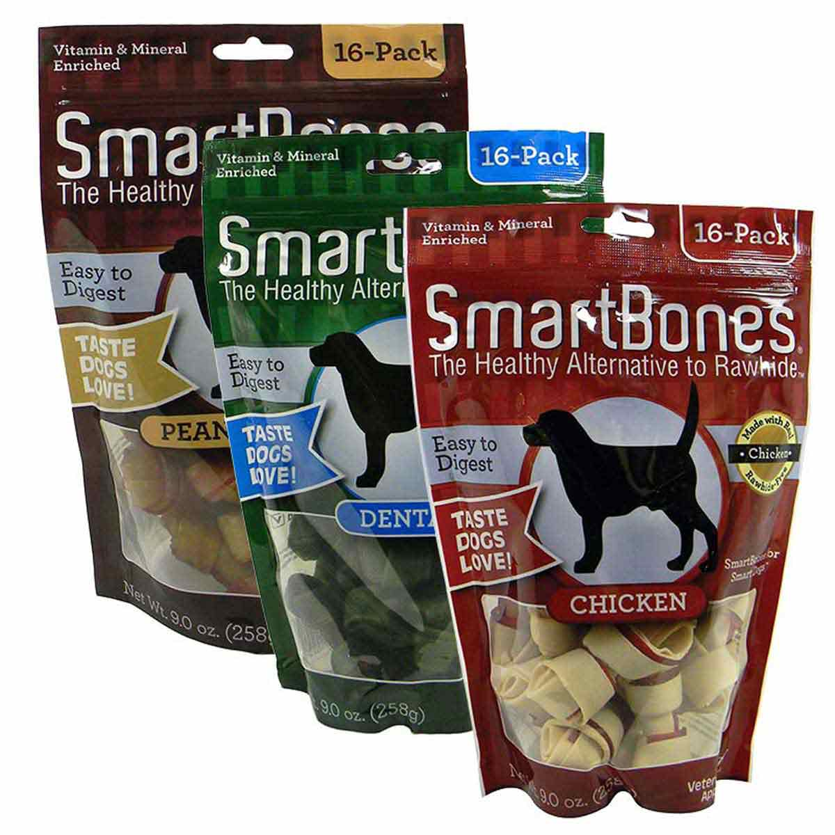 Choose from Chicken, Peanut Butter, and Dental SmartBones Mini 16 Pack at Ryan's Pet Supplies