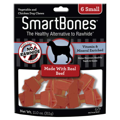 No Rawhide - SmartBones Beef Small 6 Pack for Dogs