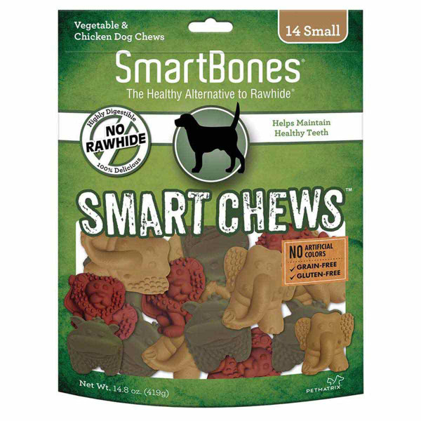 SmartBones Smart Chews Highly Digestible Treats for Small Dogs - 14 Pack