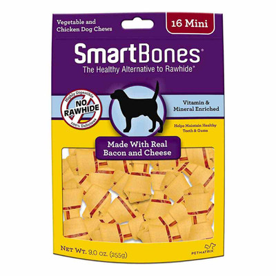 Mini Smart Bones Bacon and Cheese 16 Pack Dog Treats at Ryan's Pet Supplies