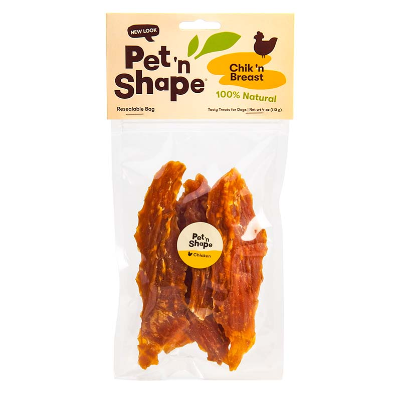 Pet 'n Shape Natural Chik'n Breast treats for Dogs 4 oz