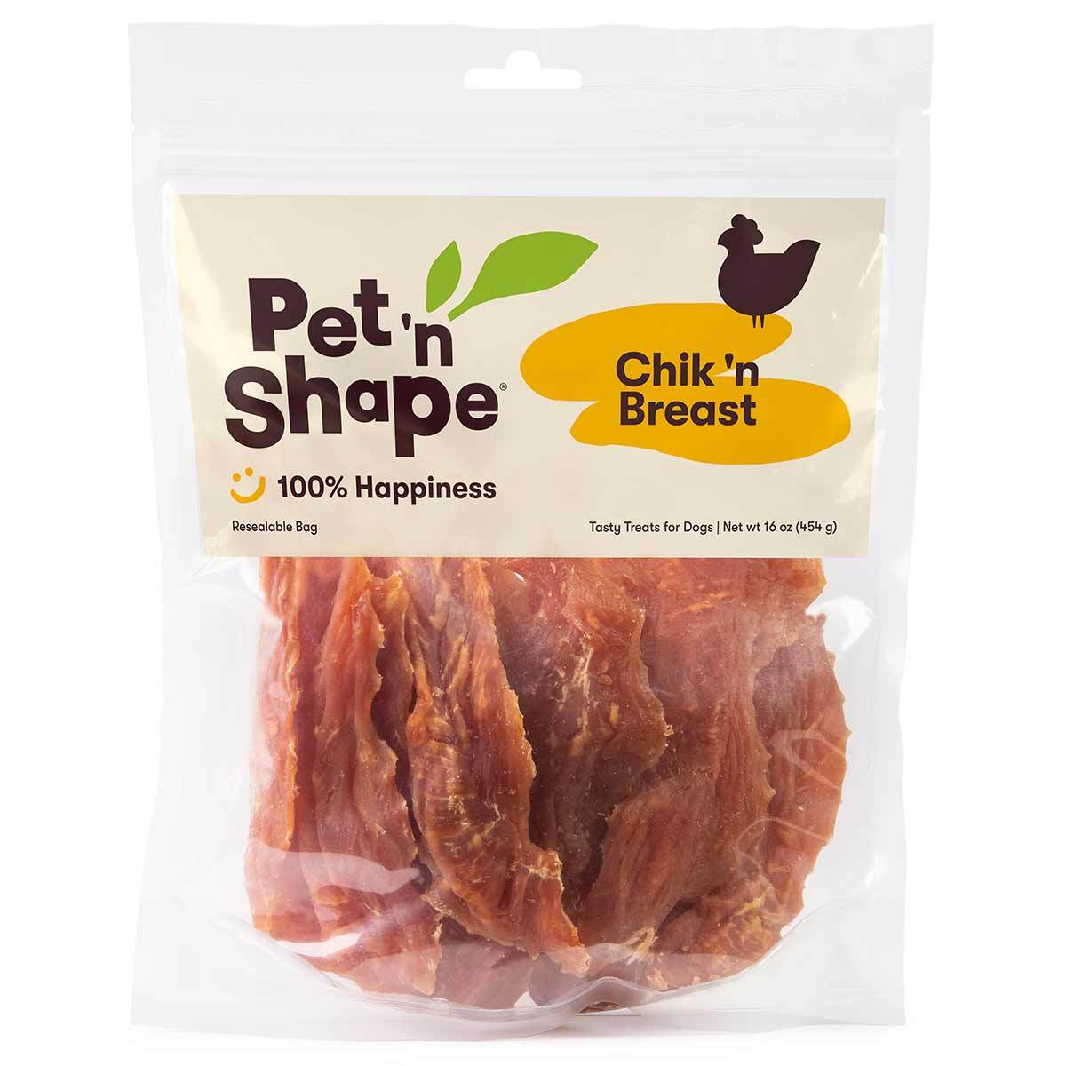 Pet 'n Shape Chik 'n Breast Chicken Jerky for Dogs - 16 oz