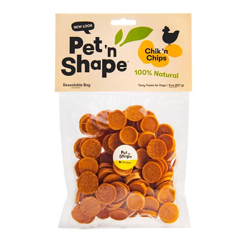 8 oz Pet 'n Shape Chik 'n Chips Dog Treats