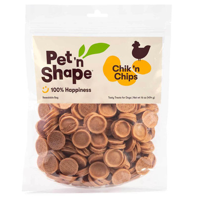 16 oz Pet 'n Shape Chik 'n Chips Dog Treats