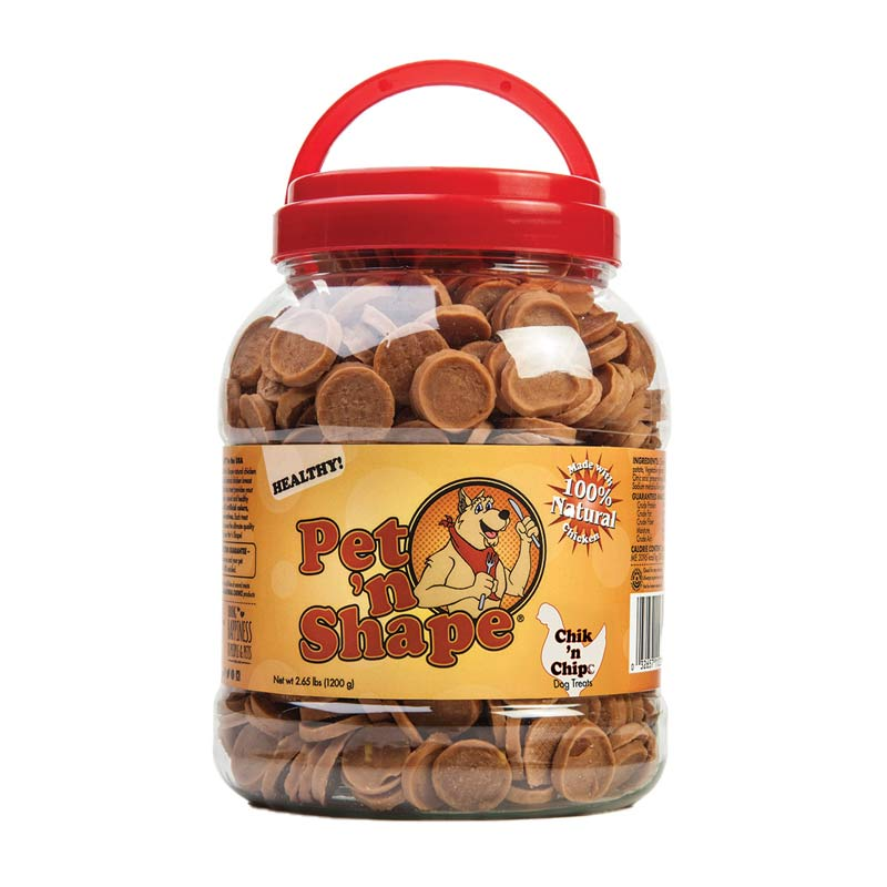 Pet 'n Shape Chik 'n Chips 42 oz - Chicken Treats for Dogs