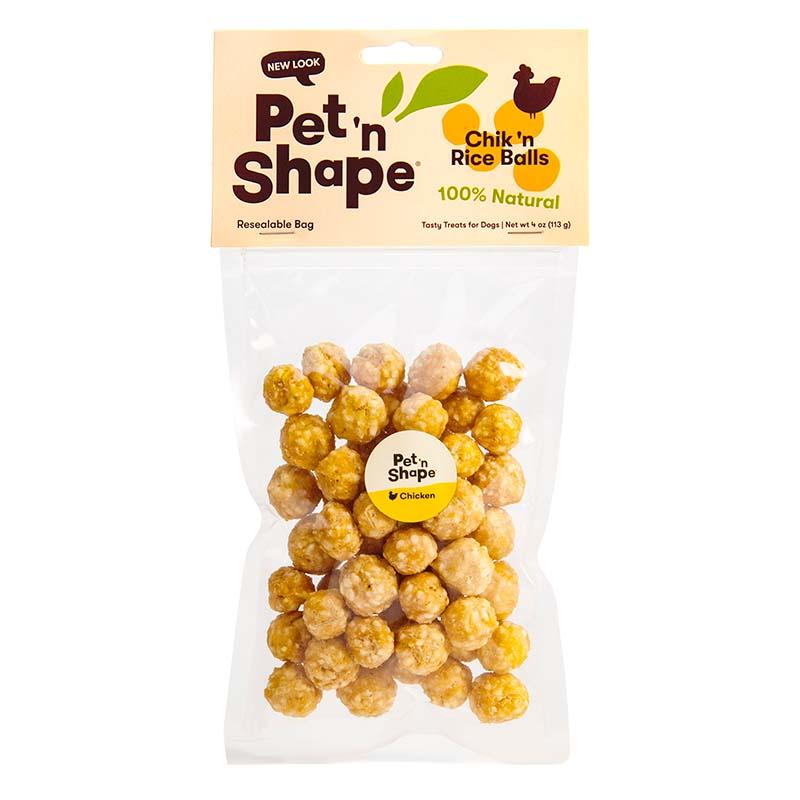 Pet 'n Shape Chik 'n Rice Balls 4 oz Chicken Dog Treats