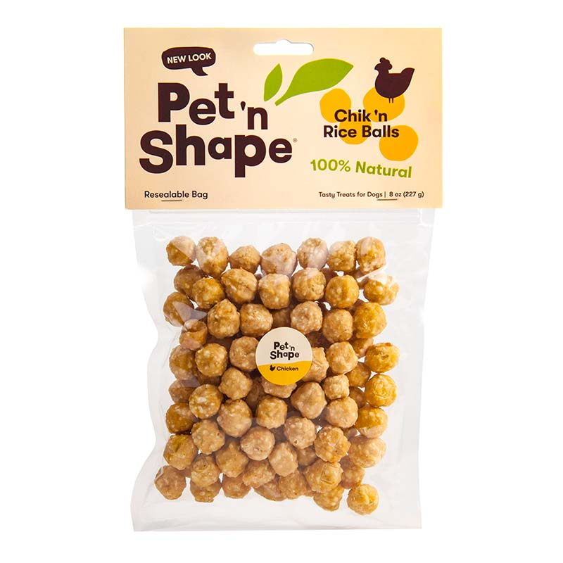 Treats for Dogs- Pet 'n Shape Chik 'n Rice Balls 8 oz