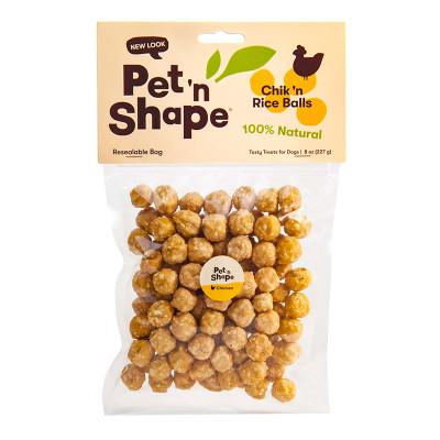 8 oz Pet 'n Shape Chik 'n Rice Balls Dog Treats