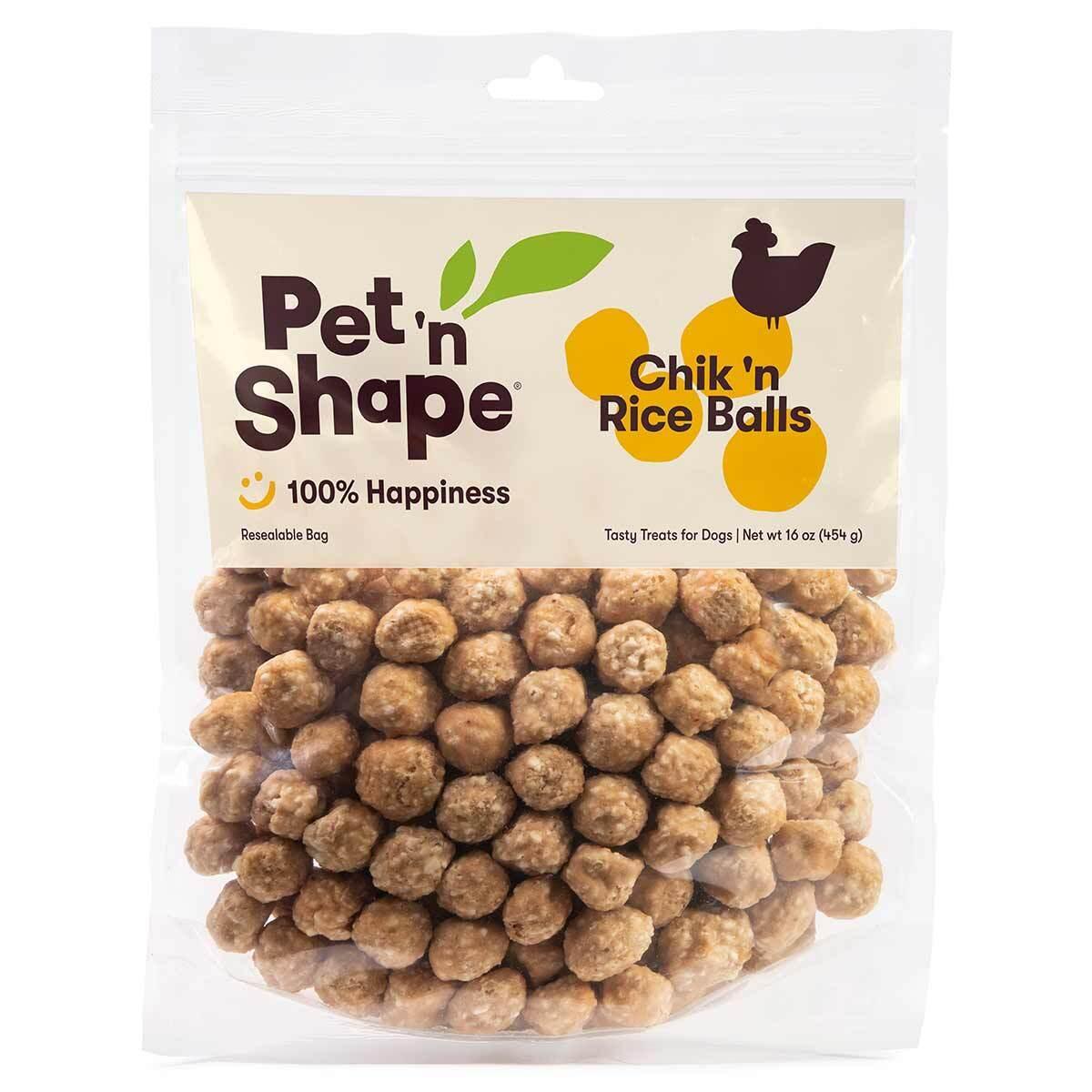 16 oz Pet 'n Shape Chik 'n Rice Balls Dog Treats