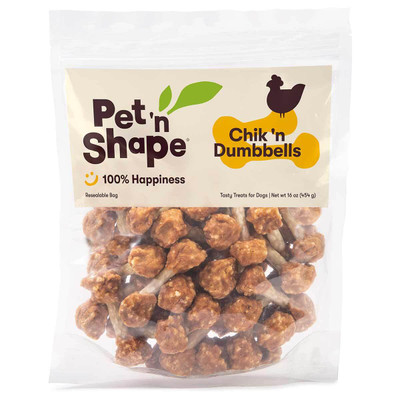 16 oz Pet 'n Shape Chik 'n Dumbbells Dog Treats available at Ryan's Pet Supplies