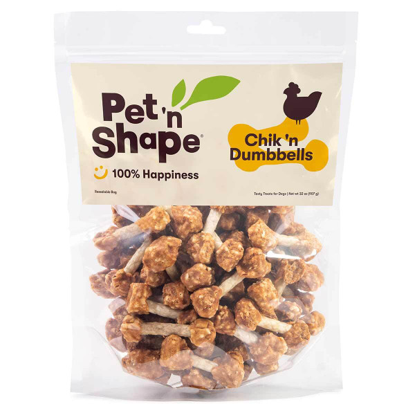 32 oz Pet 'n Shape Chik 'n Dumbbells Dog Treats