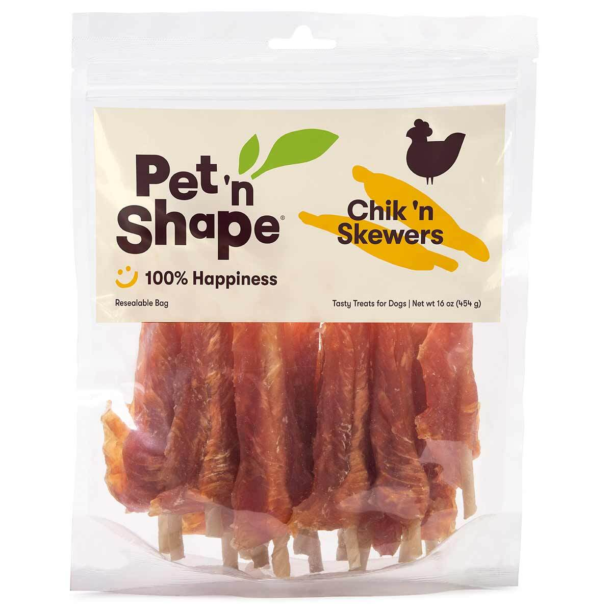 16 oz Pet 'n Shape Chicken Skewers Dog Treats