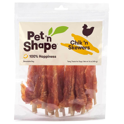 Pet 'n Shape Chik 'n Skewers Dog Treats 16 oz available at Ryan's Pet Supplies