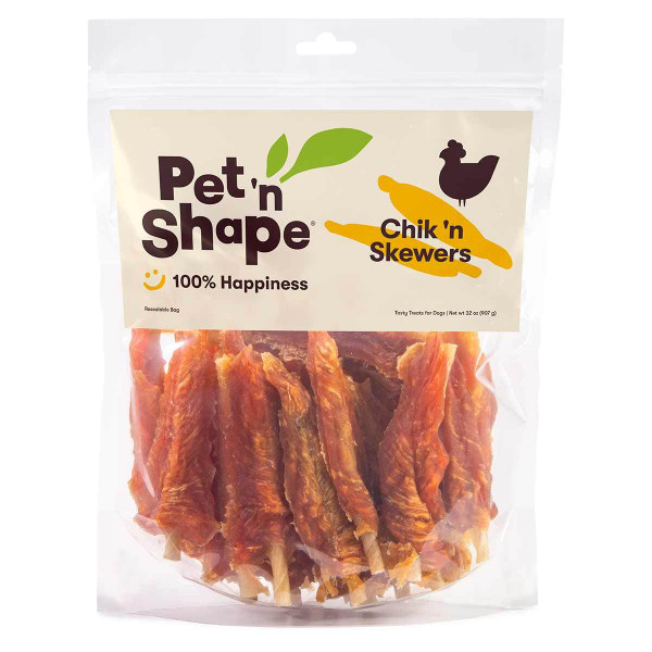 Pet 'n Shape Chik 'n Skewers 32 oz Dog Treats