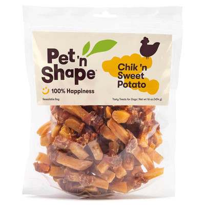 16 oz Pet 'n Shape Chik 'n Sweet Potato Treats for Dogs available at Ryan's Pet Supplies