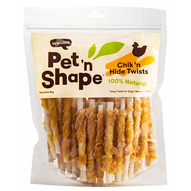 Pet 'n Shape Chik 'n Hide Twists Large 5 inch Dog Chew