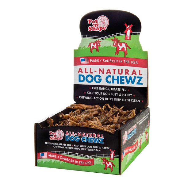 Pet 'n Shape All-Natural Dog Chewz Chicken Feet Display Case