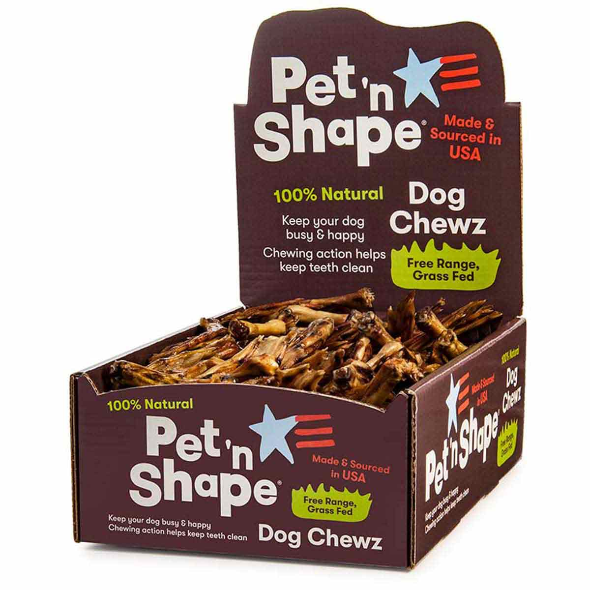 Pet 'n Shape All-Natural Dog Chewz Duck Feet Case of 100